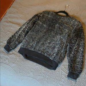 Grey Sherpa Crewneck Sweater (Size M, Poof)